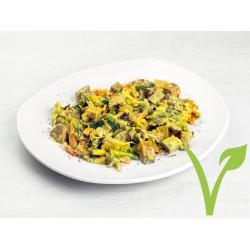 Estofado de verduras con seitán y curry