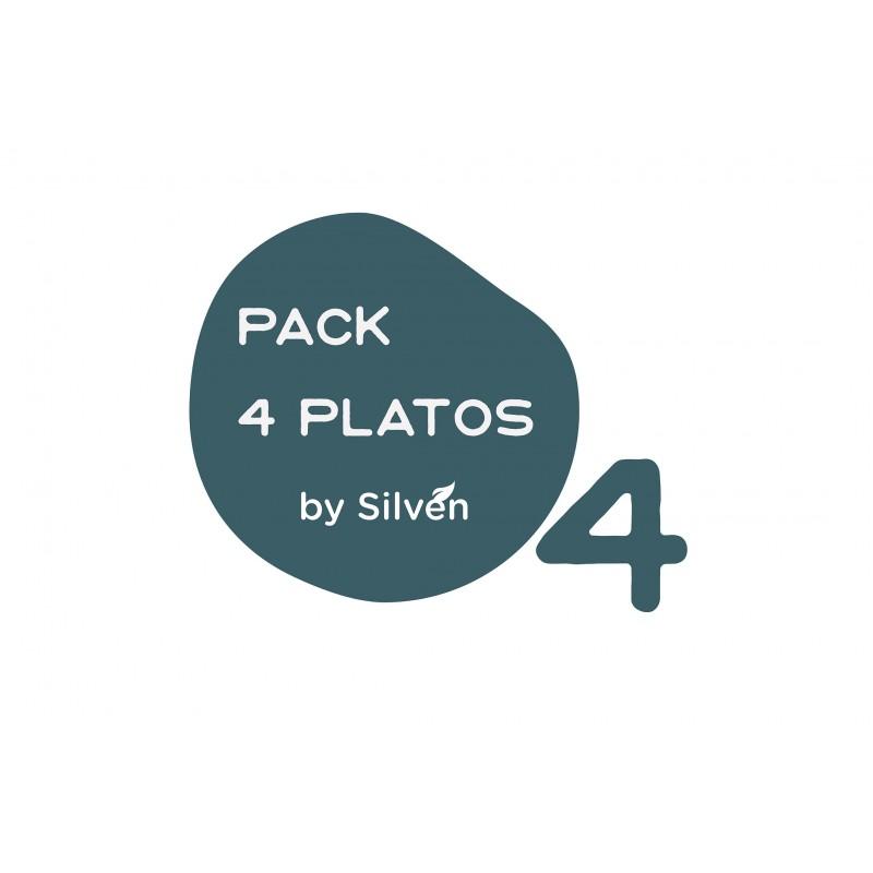 Pack 4 platos