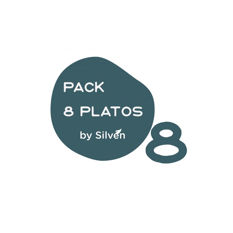 Pack 8 platos