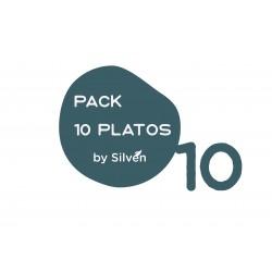 Pack 10 platos